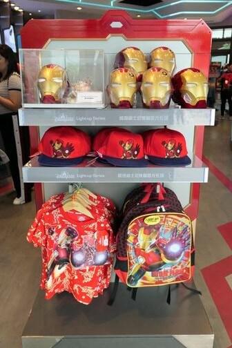 香港ディズニーランド:アイアンマンのグッズ