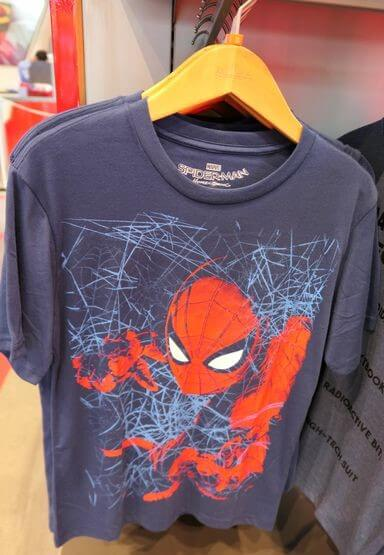 香港ディズニーランド:スパイダーマンのTシャツ