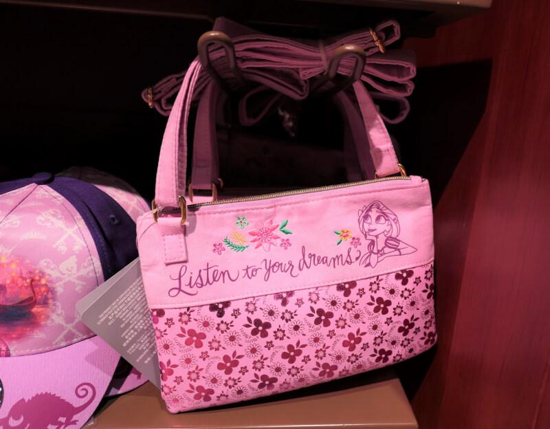 香港ディズニーランドのプリンセスグッズはお土産にもおすすめ:ラプンツェルのバッグ