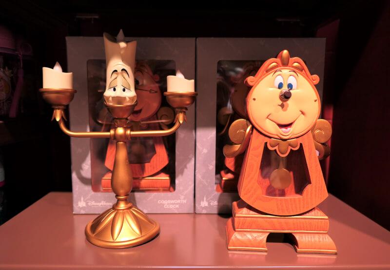 香港ディズニーランドのプリンセスグッズはお土産にもおすすめ:ルミエールとコグスワースの置き物