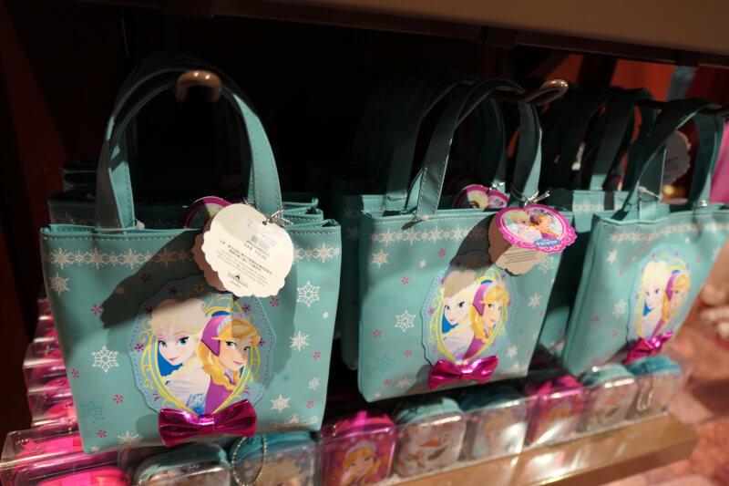 香港ディズニーランドのプリンセスグッズはお土産にもおすすめ:アナとエルサのトートバッグ